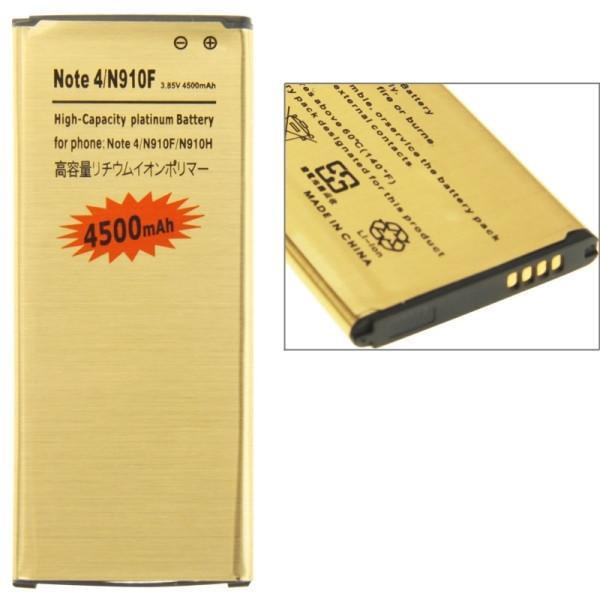 High Capacity 3.85V 4500mAh Business Replacement Li-Polymer Battery for Samsung Galaxy Note 4 / N910F