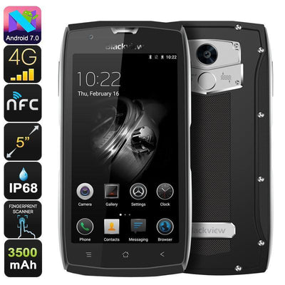 HK Warehouse Blackview BV7000 Rugged Phone - Android 7.0, Quad-Core CPU, 2GB RAM, Gorilla Glass 3, 1080p, IP68, Dual-IMEI, 4G - Beewik-Shop.com