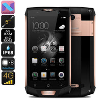 HK Warehouse Blackview BV8000 Pro Android Phone - 2 IMEI, IP68, 1080p, Android 7, 6GB RAM, Octa-Core, 16MP Cam (Gold)