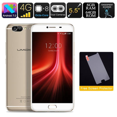 HK Warehouse UMIDIGI Z1 Android Phone - 4000mAh, Android 7.0, FHD Display, Helio P20 CPU, 6GB RAM, Dual-Cam (Gold) - Beewik-Shop.com