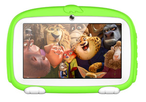 Android Tablet PC – For Kids, Sophisticated Hardware, WiFi, 7 Inch Display, HD Visuals, 4000mAh, Built-in Camera (Green)