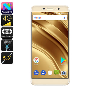HK Warehouse Ulefone S8 Pro Android-Smartphone - Android 7.0, HD-Display, 4G, Dual-IMEI, MTK6737-CPU, 2 GB RAM, 13 MP Kamera (Gold) - Beewik-Shop.com