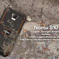 NOMU S10 Rugged Android Phone - Quad-Core CPU, Android 6.0, 4G, IP68, 5 Inch IPS Screen (Orange) - Beewik-Shop.com