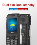 SNOPOW M2 Phone - IP68 Waterproof, FM Radio 0.3MP Camera,  Flashlight, 2500mAh Battery, 2.4-Inch (Black) - Beewik-Shop.com