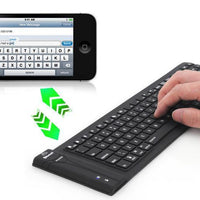 IP67 Clavier sans fil Bluetooth - Prise en charge PC, Mac, Android + IOS, flexible en silicone pliable, étanche, anti-poussière + Dirt