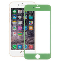 iPartsBuy Front Screen Outer Glass Lens for iPhone 6(Green)