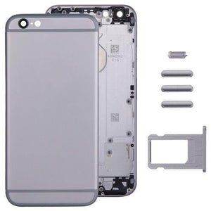 iPartsBuy Full Assembly Housing Cover for iPhone 6, Including Back Cover & Card Tray & Volume Control Key & Power Button & Mute Switch Vibrator Key(Grey)