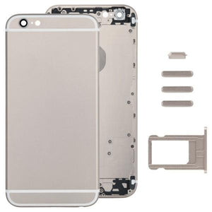 Full Assembly Housing Cover for iPhone 6, Including Back Cover & Card Tray & Volume Control Key & Power Button & Mute Switch Vibrator Key (Light Gold) - Beewik-Shop.com