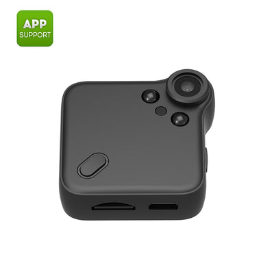 Wearable mini WiFi camera -1080P, night vision, motion detection, CMOS sensor, application support,64GB SD cardslot, 140 degrees - Beewik-Shop.com
