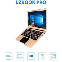 Jumper EZBook 3 Pro Windows Laptop - Intel Celeron N3450 CPU, 6GB DDR3 RAM, 13.3-Inch, 1080p, 9600mAh, Unlicensed Windows 10