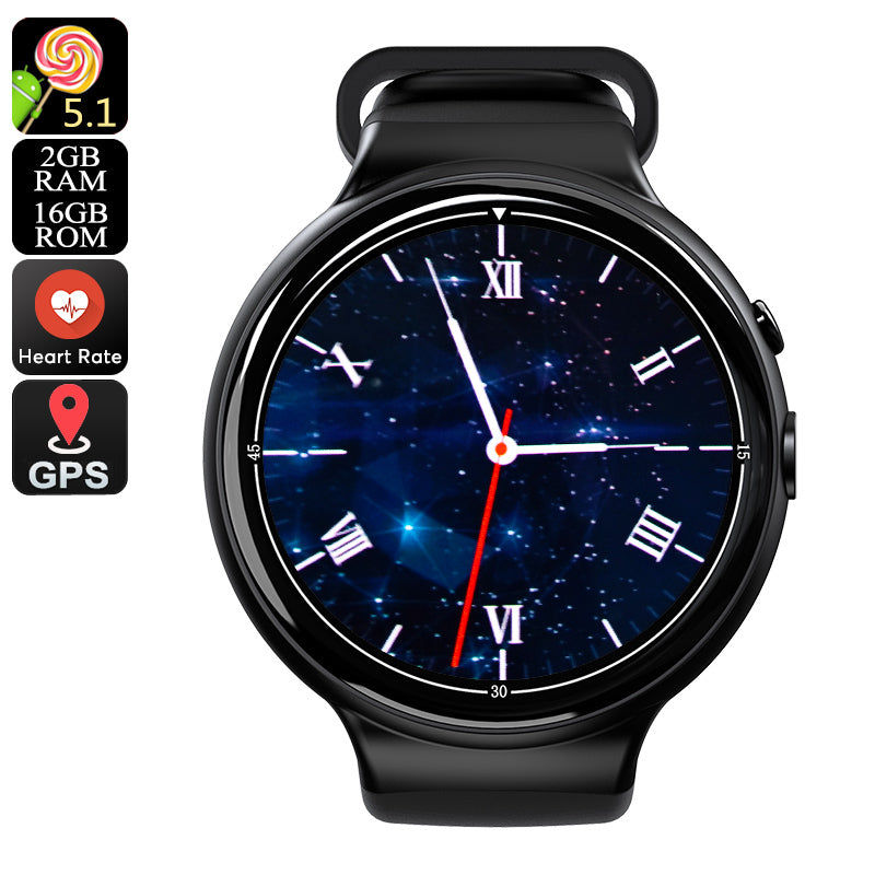 I4 Air Smart Watch Phone - 1 IMEI, 3G, 5MP Camera, WiFi, Calls, Messages, Social Media, Music, Pedometer, Heart Rate, Android OS - Beewik-Shop.com