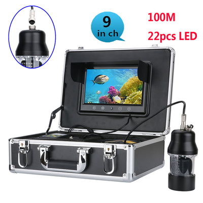 Underwater fishing video recorder -360 degrees,100 meters ,1/3 inch SONY CCD, 700 TVL, remote control, 9 inch color display send - Beewik-Shop.com