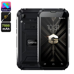 Geotel G1 Android Phone - Android 7.0, Dual-IMEI, 3G, Quad-Core, 2 GB RAM, 5-Zoll-HD-Display, 7500 mAh, Google Play - Beewik-Shop.com