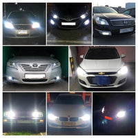 LED Headlight Bulbs - Type H4 Light Interface, 6500k White Light, 3800 Lumen Each, COB Chip, Plug And Play, 30000 Hours Lifespan