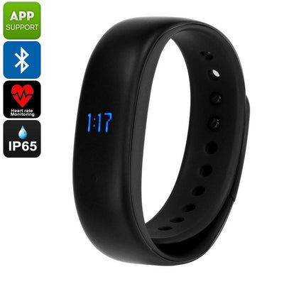 Lenovo HW02 Fitness Tracker Bracelet - Pedometer, Sleep Monitor, Calorie Counter, Heart Rate Monitor, Bluetooth, IP65 (Black) - Beewik-Shop.com