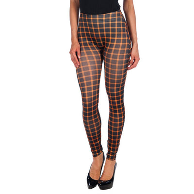 INTIMAX BLACK LEGGINS WITH ORANGE STRIPES - Beewik-Shop.com