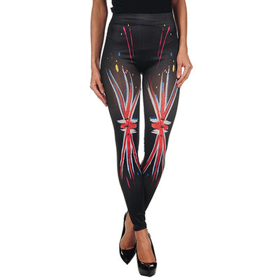INTIMAX PAINTED LEGGINS UK BLACK - Beewik-Shop.com