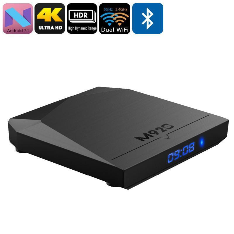 M92S Android TV Box - 4K Support, Android 7.1, Google Play, Octa-Core CPU, 2GB RAM, Miracast, Dual-Band WiFi - Beewik-Shop.com