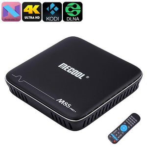 Box TV Android MECOOL M8S Pro - Android 7.1, supporto 4K, quad-core, 2 GB, DLNA, Miracast, Airplay, Google Play, Kodi 17.0 - Beewik-Shop.com