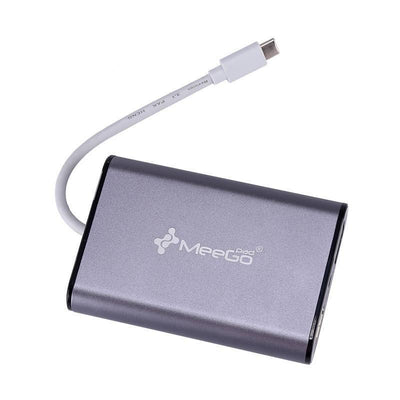 MeeGoPad USB de type C Hub - HDMI, VGA, Ethernet, 2 USB 3.0, Micro SD, audio, type C Power Delivery, MacBook Pro, Chromebook Pixel
