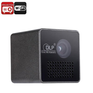 Mini DLP Projector - WiFi Support, DLP Technology, 1080p Media Support, 35 Lumen, Built-in Speaker, Built-in Battery