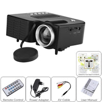 Mini HD Projector - Built-In Speaker, 500 Lumen, 1080p Support, 60-Inch Image Size, Light Weight, AV, USB, SD, HDMI