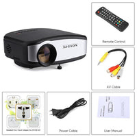 Mini LED Projector - 45W LED, 1080p support, 75 ANSI Lumens, Manual Focus Lens, 2W Speaker, 3.5mm Headphone Jack