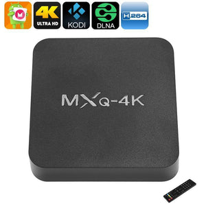 MXQ 4K TV Box - Android 6.0, WiFi, 3D Movie Support, 4K Support, Google Play, Kodi TV, Miracast, DLNA, Quad-Core CPU