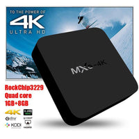 MXQ 4K TV Box - Android 6.0, WiFi, 3D Movie Support, 4K Support, Google Play, Kodi TV, Miracast, DLNA, Quad-Core CPU - Beewik-Shop.com