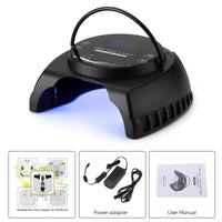 Nail Polish Dryer - 60W LED, 395 to 405nM UV Wavelenght, 4 Timing Modes, Safe To Use, LCD Display, 50000 Hour Service Life