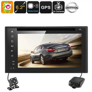 Nissan 2 DIN DVD Player - 6.2 Inch Screen, Android 6.0, Octa Core CPU, GPS, Bluetooth, Car DVR, Parking Camera, Region Free - Beewik-Shop.com