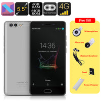 Meiigoo M1 Android Phone - Octa-Core CPU, Dual-Rear Camera, 6GB RAM, Android 7.0, 5.5 Inch FHD, 4000mAh, 4G (Gray) - Beewik-Shop