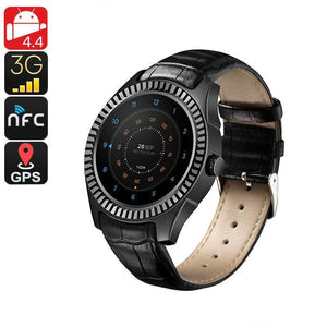 No.1 D7 Bluetooth Watch Phone - 1 IMEI, 3G, Pedometer, Heart Rate Monitor, Phone Calls, NFC, App, Android OS (Black)