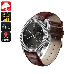 No.1 D7 Bluetooth Watch Phone - Android OS, Heart Rate Monitor, 1 IMEI, 3G, Pedometer, Phone Calls, App, NFC (Silver) - Beewik-Shop.com
