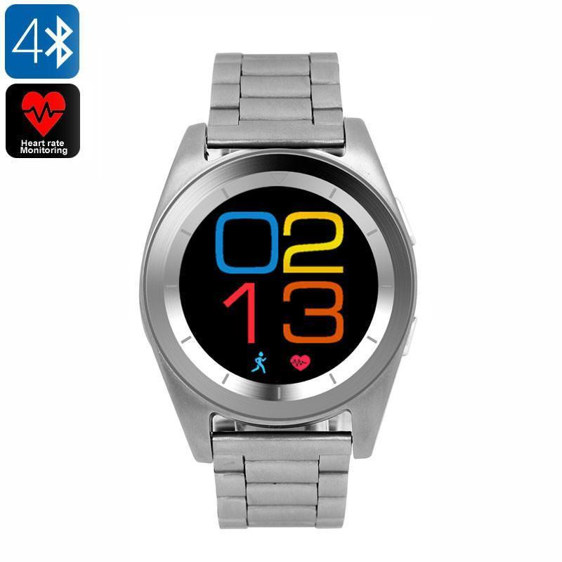 No.1 G6 Bluetooth Watch - Bluetooth 4.0, Built-in Mic, Pedometer, Sleep Monitor, Sedentary Reminder, Heart Rate Monitor, App - Beewik-Shop.com