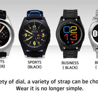 No.1 G6 Bluetooth Watch - Pedometer, Sleep Monitor, Heart Rate Monitor, Sedentary Reminder, Built-in Mic, App Control (Black)