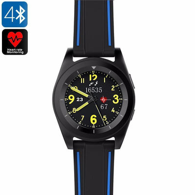 No.1 G6 Sports Watch - Heart Rate Monitor, Pedometer, Sleep Monitor, Sedentary Reminder, Bluetooth 4.0, APP ( Black TPU) - Beewik-Shop.com