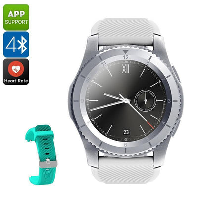 NO.1 G8 Phone Watch - Bluetooth 4.0, App Support, 1 IMEI, Pedometer, Sleep Monitor, Sedentary Reminder, Heart Rate (White) - Beewik-Shop.com