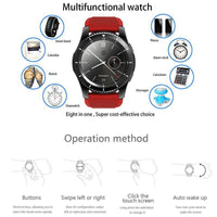 NO.1 G8 Phone Watch - Bluetooth 4.0, App Support, 1 IMEI, Pedometer, Sleep Monitor, Sedentary Reminder, Heart Rate (White)