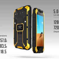 Conquest S6 Rugged Phone - Android 6.0, IP68, 5 Inch HD Display, Dual-Band WiFi, 4G, Octa-Core CPU, Fingerprint, NFC (Yellow) - Beewik-Shop.com
