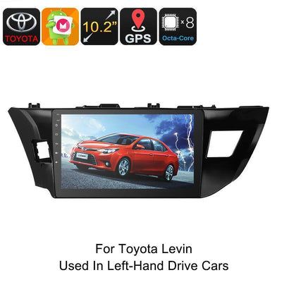 One DIN Car Stereo - For Toyota Levin, 10.2 Inch, HD Display, Android 6.0, GPS, Octa-Core, 2GB RAM, WiFi, 3G, CAN BUS, Bluetooth - Beewik-Shop.com