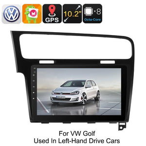 One DIN Car Stereo VW Golf - Android 6.0, GPS, Bluetooth, WiFi, 3G, Octa-Core CPU, 10.2-Inch HD Display, CAN BUS