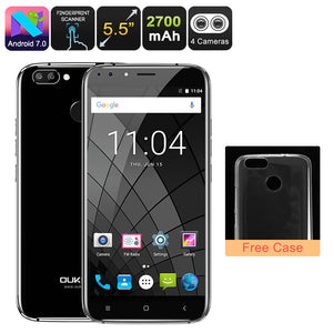 HK Warehouse Android-Handy Oukitel U22 - Quad-Core-CPU, 2 GB RAM, Dual-Rear-Cam, Android 7.0, 5.5-Zoll-HD-Display (schwarz) - Beewik-Shop.com