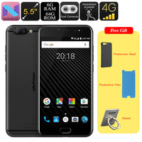 HK Warehouse Ulefone T1 Android Smartphone - MTK Helio P25 CPU, Android 7.0, 6GB RAM, 1080p Display, 16MP Cam, Dual IMEI (Black) - Beewik-Shop.com