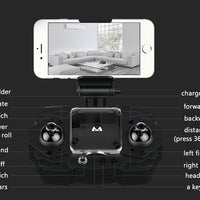 SMAO M1HS Mini Drone -  FPV, WiFi, 220mAh, photo 0.3MP (blanc) - Beewik-Shop.com