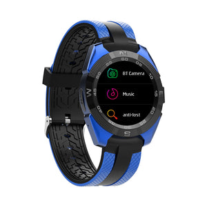 Bluetooth Smartwatch, 10.5mm Ultra-Thin Dial, Heart rate Monitor, Pedometer, 1.54-inch display.Blue