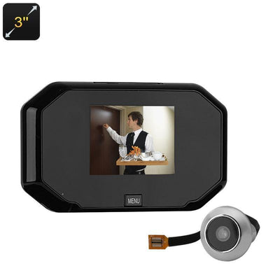 Peephole Camera - HD 3.0-Inch Display, 1MP Sensor, 145 Degree Lens, Take Pictures, 32GB SD Card Support - Beewik-Shop.com