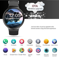 Phone Watch IQI I4 - 1 IMEI, Bluetooth, Android OS, 3G, WiFi, Pedometer, Sedentary Reminder, Heart Rate Monitor, Quad-Core CPU - Beewik-Shop.com