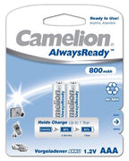 "Recargable ""Always Ready"" AAA 800mAh (2 pcs) Camelion - Beewik-Shop.com"