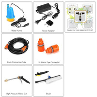 Pressure Washer For Car - 80W, 10m Water Hose, Light Weight, Portable, Different Cleaning Heads, 8L Per Minute